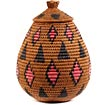 African Basket - Zulu Ilala Palm - Ukhamba - 12 Inches Tall - #53857