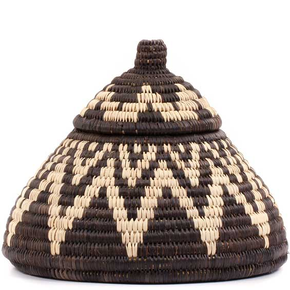 African Basket - Zulu Ilala Palm - Ukhamba -  5.25 Inches Tall - #56340