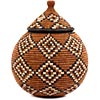 African Basket - Zulu Ilala Palm - Ukhamba - 10.5 Inches Tall - #56385