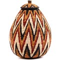 African Basket - Zulu Ilala Palm - Ukhamba - 14.75 Inches Tall - #56410