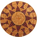 African Basket - Zulu Ilala Palm - Shallow Bowl - 16.5 Inches Across - #64402