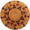 African Basket - Zulu Ilala Palm - Shallow Bowl - 15.5 Inches Across - #64406