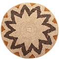 African Basket - Zulu Ilala Palm - Shallow Bowl - 15 Inches Across - #64413