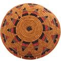 African Basket - Zulu Ilala Palm - Shallow Bowl - 14.75 Inches Across - #64414