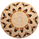 African Basket - Zulu Ilala Palm - Shallow Bowl - 15.5 Inches Across - #64423