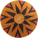 African Basket - Zulu Ilala Palm - Shallow Bowl - 17 Inches Across - #64425