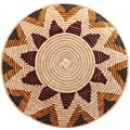 African Basket - Zulu Ilala Palm - Shallow Bowl - 15 Inches Across - #64426