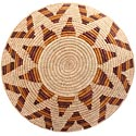 African Basket - Zulu Ilala Palm - Shallow Bowl - 15.75 Inches Across - #64430