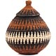 African Basket - Zulu Ilala Palm - Ukhamba -  6.5 Inches Tall - #64493