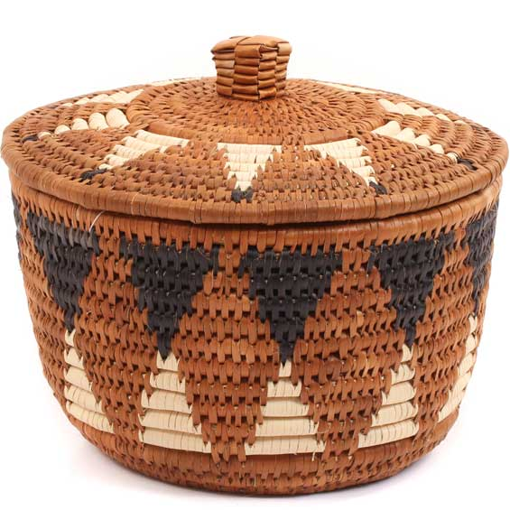 African Basket - Zulu Ilala Palm - Ukhamba Canister -  7.25 Inches Tall - #64539