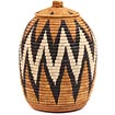 African Basket - Zulu Ilala Palm - Ukhamba - 11.75 Inches Tall - #64544