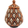 African Basket - Zulu Ilala Palm - Ukhamba - 12.5 Inches Tall - #64545