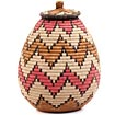 African Basket - Zulu Ilala Palm - Ukhamba - 11.75 Inches Tall - #64547