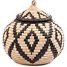 African Basket - Zulu Ilala Palm - Ukhamba -  9.75 Inches Tall - #64548