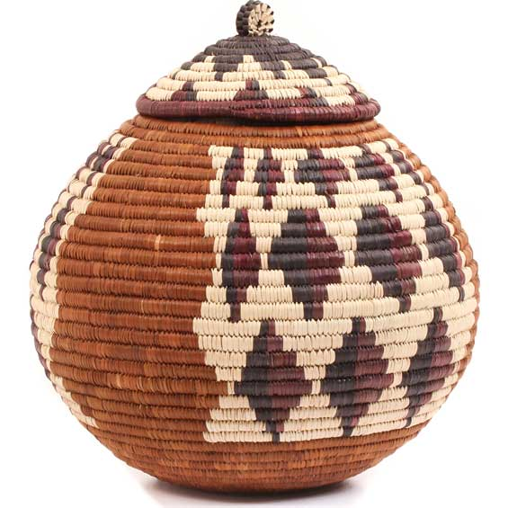African Basket - Zulu Ilala Palm - Ukhamba - 11.25 Inches Tall - #64555