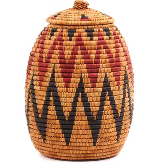 African Basket - Zulu Ilala Palm - Ukhamba - 11.25 Inches Tall - #65092