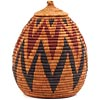 African Basket - Zulu Ilala Palm - Ukhamba - 10.5 Inches Tall - #65093