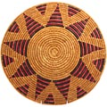 African Basket - Zulu Ilala Palm - Shallow Bowl - 15 Inches Across - #65100