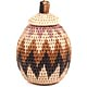 African Basket - Zulu Ilala Palm - Woven Herb Basket -  6.5 Inches Tall - #68563