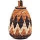 African Basket - Zulu Ilala Palm - Woven Herb Basket -  6.25 Inches Tall - #68566