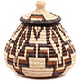 African Basket - Zulu Ilala Palm - Ukhamba -  8.25 Inches Tall - #73178