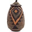 African Basket - Zulu Ilala Palm - Ukhamba - 13 Inches Tall - #73180