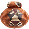 African Basket - Zulu Ilala Palm - Isichumo -  8.5 Inches Tall - #73184