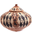 African Basket - Zulu Ilala Palm - Ukhamba -  9.25 Inches Tall - #73185