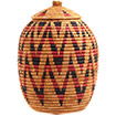 African Basket - Zulu Ilala Palm - Ukhamba - 11.5 Inches Tall - #73189