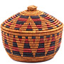 African Basket - Zulu Ilala Palm - Ukhamba Canister -  7.5 Inches Tall - #73210