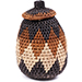 African Basket - Zulu Ilala Palm - Woven Herb Basket -  5.5 Inches Tall - #74319