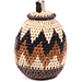 African Basket - Zulu Ilala Palm - Woven Herb Basket -  5.75 Inches Tall - #74320