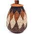 African Basket - Zulu Ilala Palm - Woven Herb Basket -  5 Inches Tall - #74324