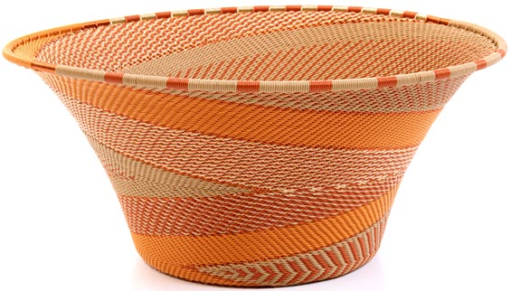 African Basket - Zulu Wire - Large Flared Bowl #21067