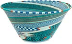 African Basket - Zulu Wire - Extra Large Funnel Bowl #36653