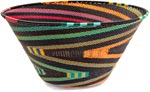 African Basket - Zulu Wire - Extra Large Funnel Bowl #36654