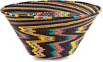 African Basket - Zulu Wire - Extra Large Funnel Bowl #36656