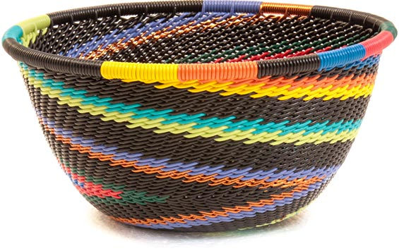 African Basket - Zulu Wire - Small Bowl #36686