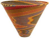African Basket - Zulu Wire - Deep Funnel Bowl, Extra Large #37169