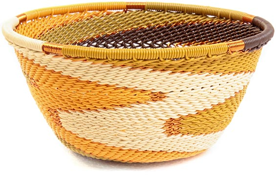African Basket - Zulu Wire - Small Bowl #37185