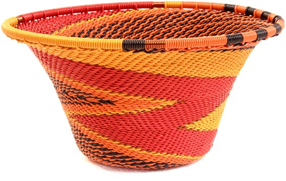 African Basket - Zulu Wire - Small Flared Bowl #37190