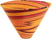 African Basket - Zulu Wire - Deep Funnel Bowl, Extra Large #37207