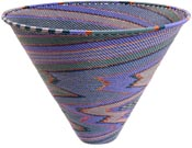 African Basket - Zulu Wire - Deep Funnel Bowl, Extra Large #37209