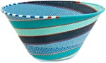 African Basket - Zulu Wire - Extra Large Funnel Bowl #37217