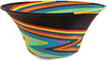 African Basket - Zulu Wire - Large Flared Bowl #37383