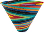 African Basket - Zulu Wire - Deep Funnel Bowl, Extra Large #37386