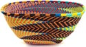 African Basket - Zulu Wire - Large Almost Square #37391