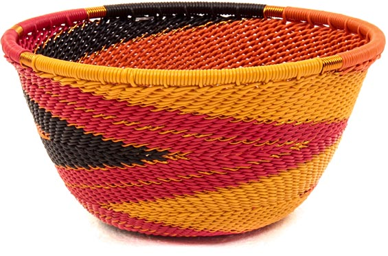 African Basket - Zulu Wire - Small Bowl #38177