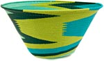 African Basket - Zulu Wire - Extra Large Funnel Bowl #38964