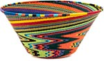 African Basket - Zulu Wire - Extra Large Funnel Bowl #39556